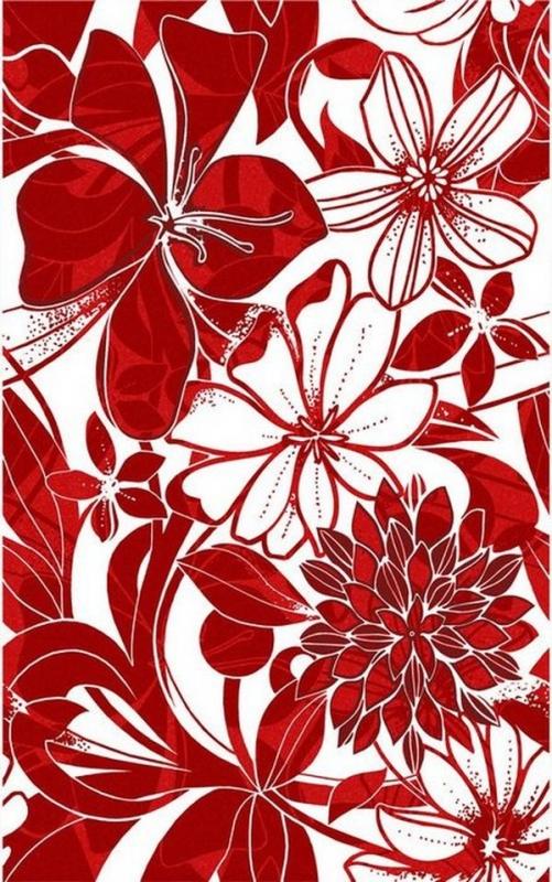 Керамический декор Нефрит Керамика Кураж-2 Жаклин Красный 25х40 см