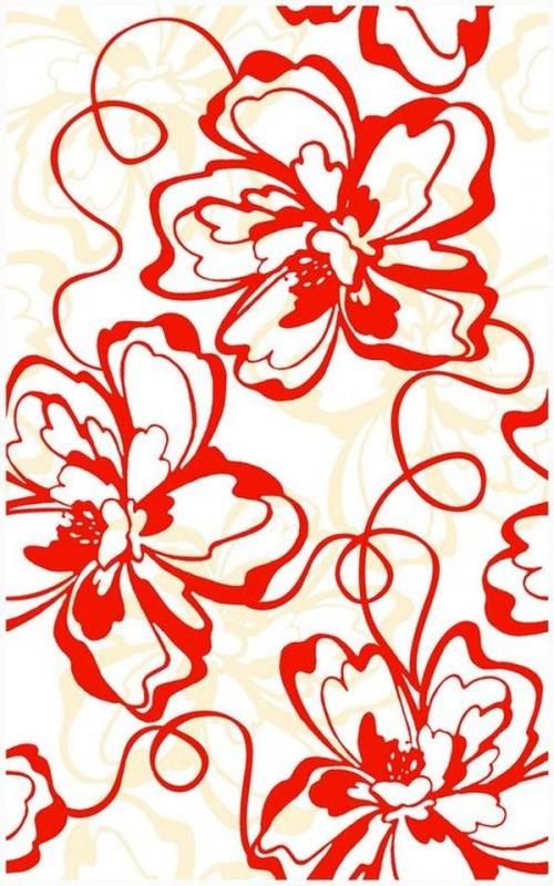 Керамический декор Нефрит Керамика Монро Красный 25х40 см