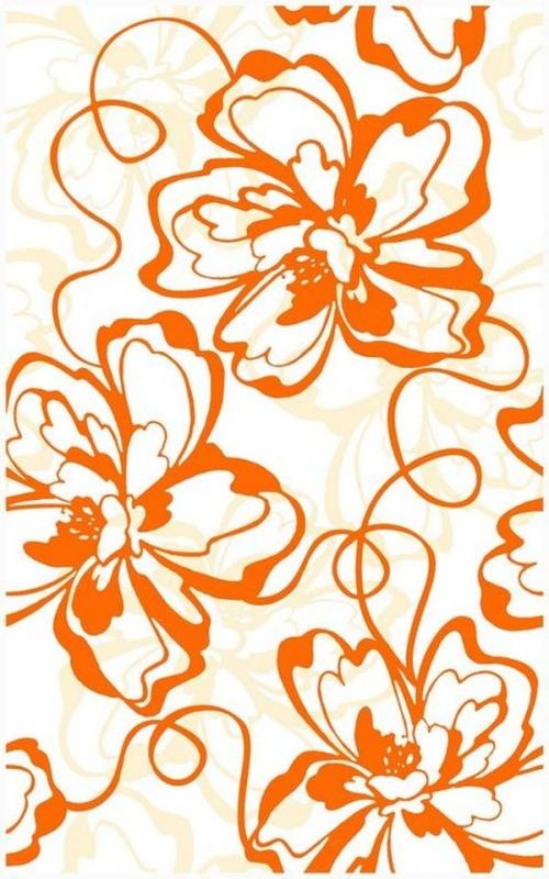 Керамический декор Нефрит Керамика Монро Оранжевый 25х40 см