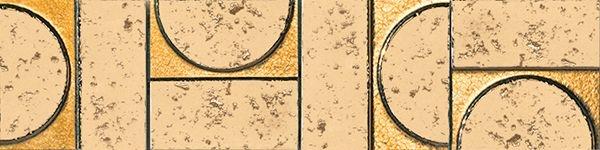 Бордюр Fap Ceramiche Evoque Sigillo Oro Inserto Listello Mosaico 7,5х30,5см цена