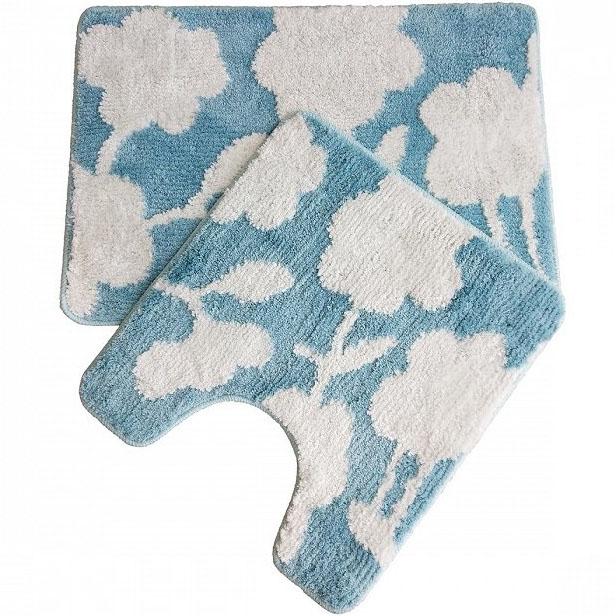 Комплект ковриков для ванной комнаты Iddis Promo P37M465i12 65x45 + 50x45 Двухцветный