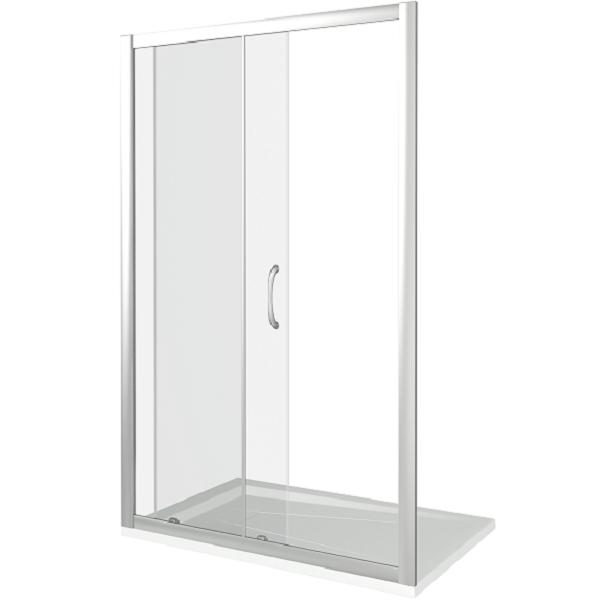 Душевая дверь в нишу Good Door Neo WTW-140-C-CH 140х185 профиль Хром стекло прозрачное фото