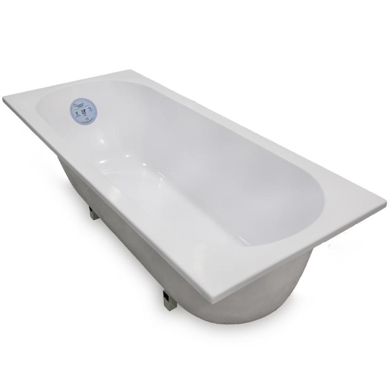 Ванна из литьевого мрамора Marmo Bagno Лучия 170x75 MB-L170-75 с ножками без гидромассажа цена 2017