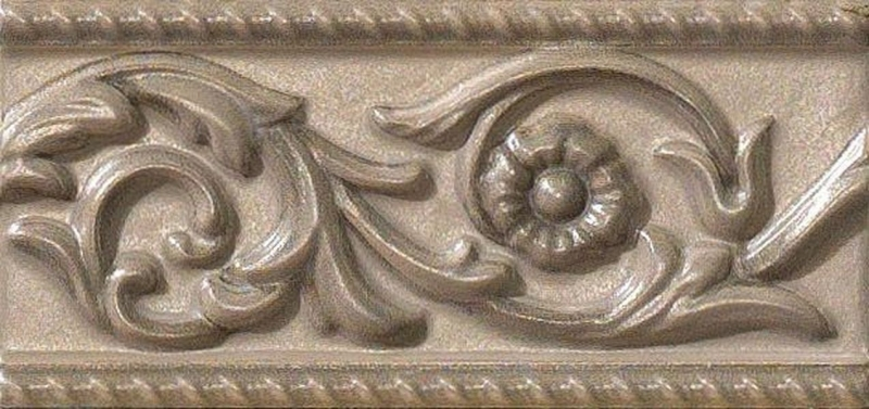 Керамический бордюр Vallelunga Villa dEste Tortora Listello Este 7,5х15 см