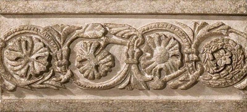 Керамический бордюр Vallelunga Villa dEste Tortora Listello Tibur 6,5х15 см