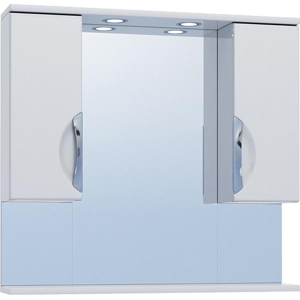 Зеркало со шкафом Vigo Callao 80 №19-800 с подсветкой Белое зеркало со шкафом vigo callao 60 l с подсветкой белое