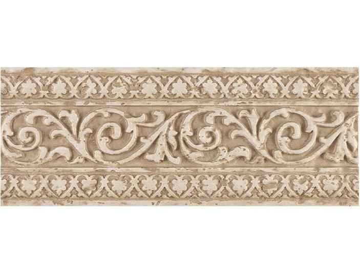 цена на Керамический бордюр Saloni Tivoli Listelo Blason Crema 12х31 см