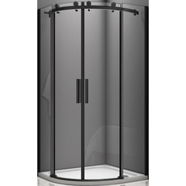Душевой уголок Good Door Galaxy R-TD-100-C-B 100x100 профиль Черный стекло прозрачное комплектующие