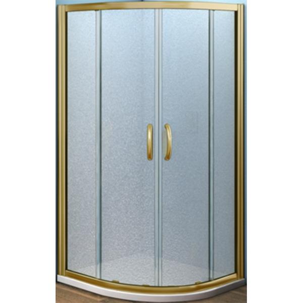 Душевой уголок Good Door Jazze R-120-G-BR 120x80 профиль Бронза стекло матовое комплектующие