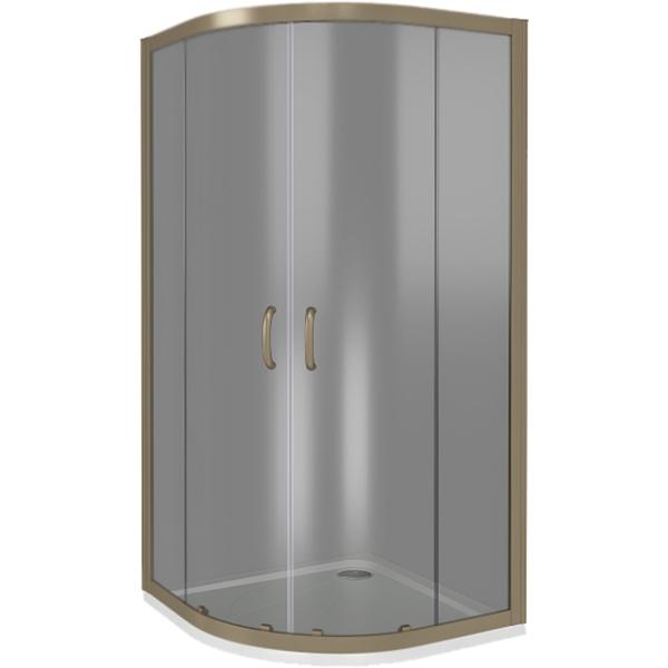 Душевой уголок Good Door Jazze R-100-B-BR 100x100 профиль Бронза стекло тонированное комплектующие
