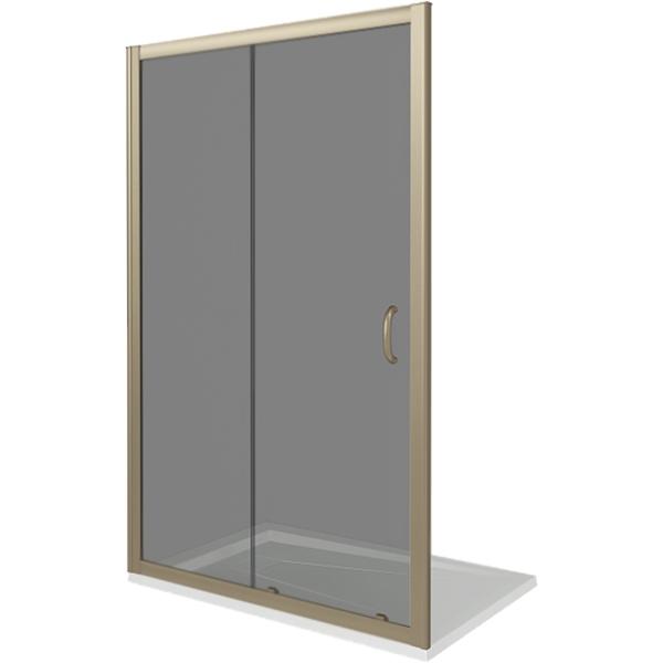 Душевая дверь в нишу Good Door Jazze WTW-130-B-BR 130 профиль Бронза стекло тонированное