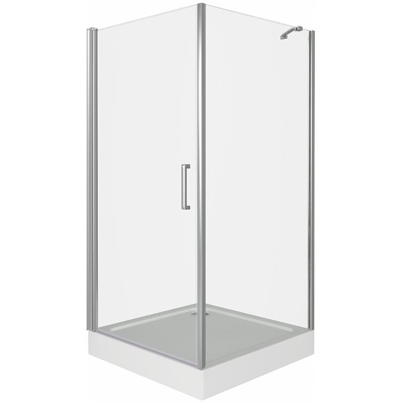 Душевой уголок Good Door Fantasy CR-100-С-CH 100x100 профиль Хром стекло прозрачное комплектующие