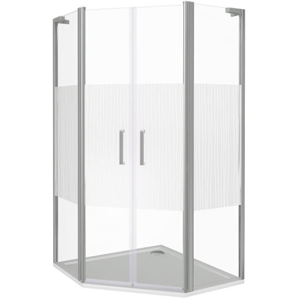 Душевой уголок Good Door Pandora PNT-TD-100-T-CH 100x100 профиль Хром стекло с рисунком комплектующие