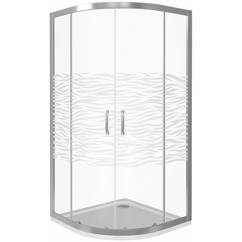Душевой уголок Good Door Infinity R-80-W-CH 80x80 профиль Хром стекло с рисунком