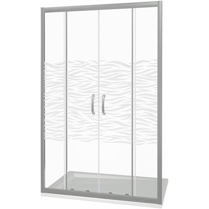 Душевая дверь в нишу Good Door Infinity WTW-TD-170-W-CH 170 профиль Хром стекло с рисунком душевая дверь good door infinity 170 матовая грейп хром infinity wtw td 170 g ch