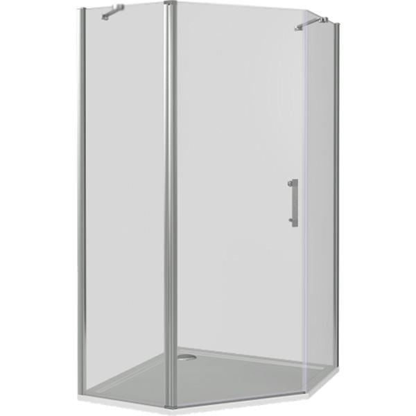 Душевой уголок Good Door Mokka PNT-100-C-WE 100x100 профиль Белый стекло прозрачное комплектующие