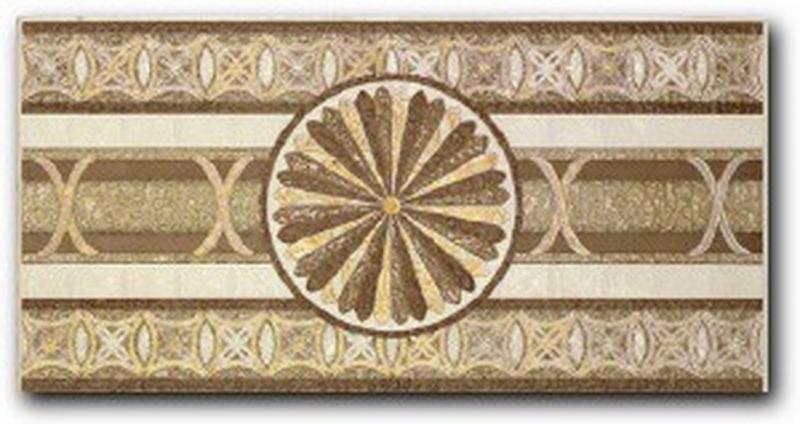 Керамический бордюр Porcelanite Dos 5008 Cenefa Ivory Rodas 25х50 см
