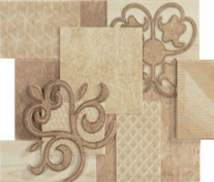 Керамическое панно Porcelanite Dos 9516 Comp.Crema-Beige Sin Fin II 19х46,4 см