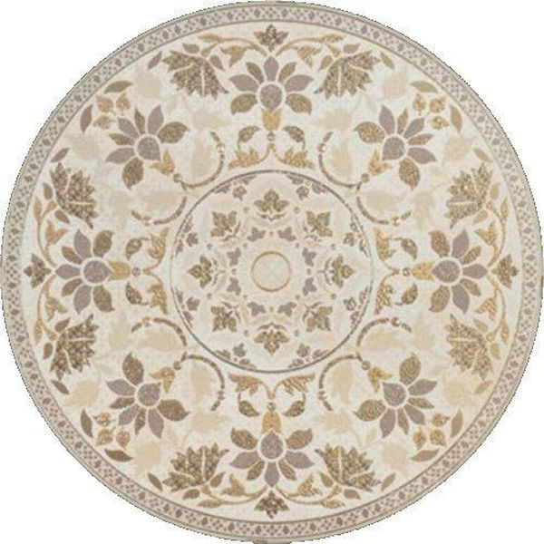 Керамическая вставка Porcelanite Dos 5021 Roseton Crema-Perla 50х50 см