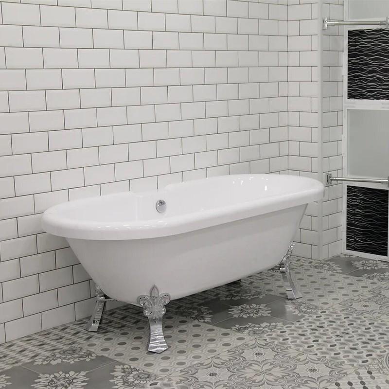 Акриловая ванна Radomir Леоннеса 1 175х80 1-01-2-0-9-138 Белая с ножками хром