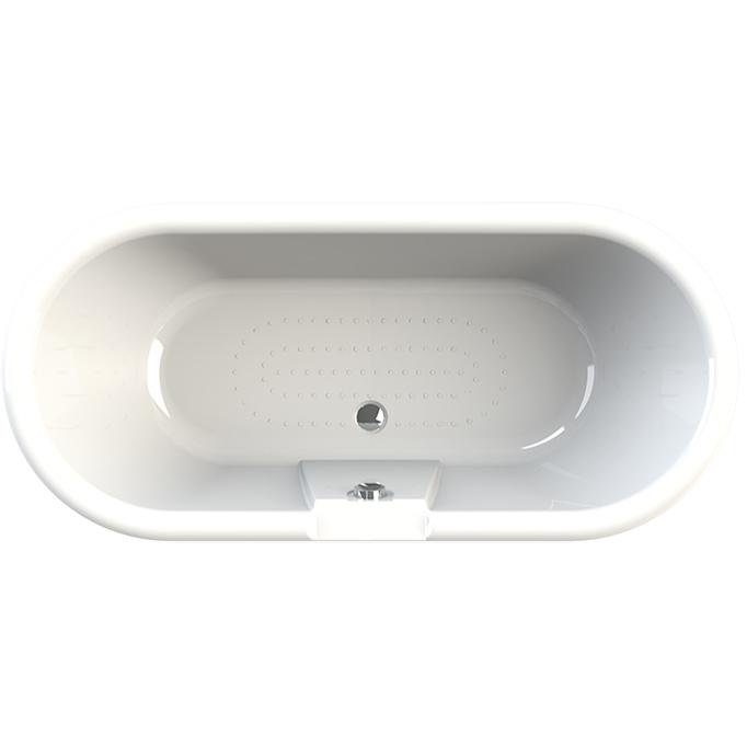 Акриловая ванна Radomir Леоннеса 1 175х80 1-01-2-0-9-138П Перламутровая с ножками хром