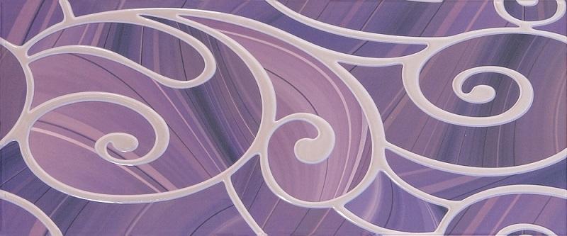 Керамический декор Gracia Ceramica Arabeski Purple Decor 01 25x60см недорого