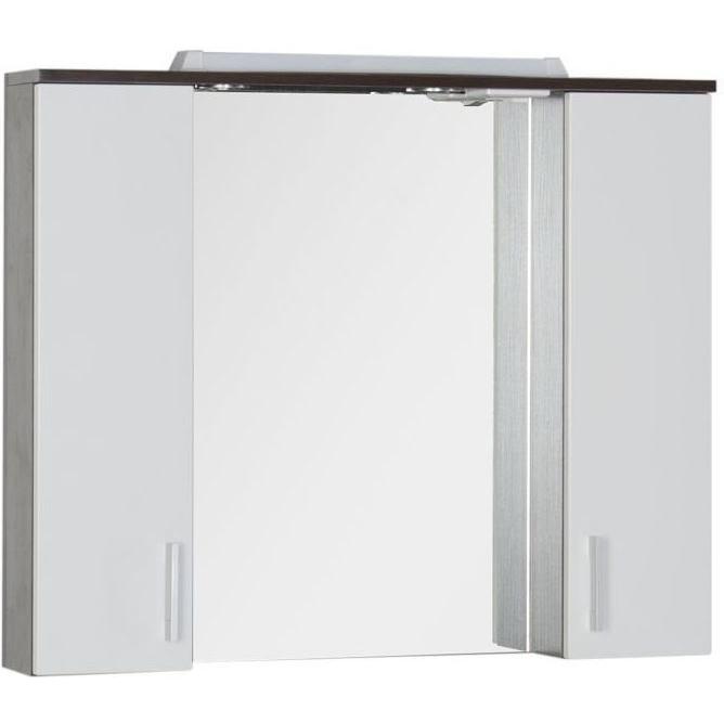 Зеркало со шкафом Aquanet Тиана 90 172399 Венге Белый