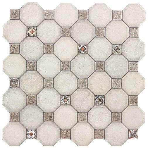 Керамическая плитка Oset Royal White напольная 33x33 см стоимость