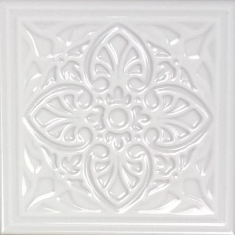 Керамический декор Monopole Ceramica Armonia A Blanco 15x15см керамическая плитка monopole ceramica armonia b blanco 15x15 декор