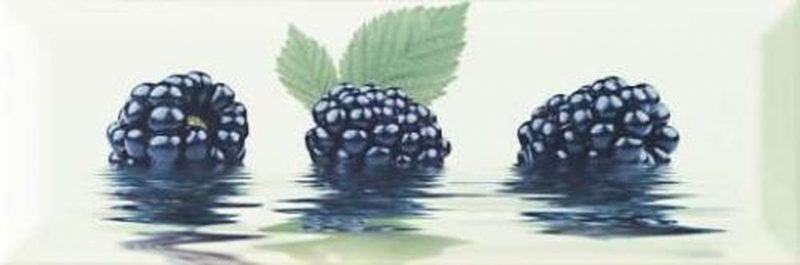 Керамический декор Monopole Ceramica Fresh/Primavera Mora 10х30 см керамический декор monopole ceramica gourmet romantic dolce vita miele 10х30 см