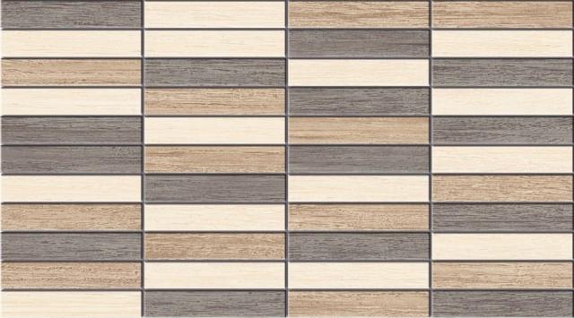 Керамическая плитка Naxos Ceramica Clio Mosaico Brown настенная 25x45 см