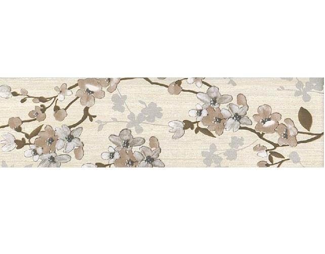 Керамический бордюр Naxos Ceramica Clio Listello Fior di Pesco Beige 12,5x45 см