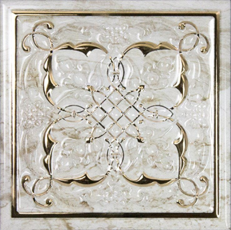 Керамический декор Monopole Ceramica Petra Armonia Gold B 15х15 см керамическая плитка monopole ceramica armonia b blanco 15x15 декор