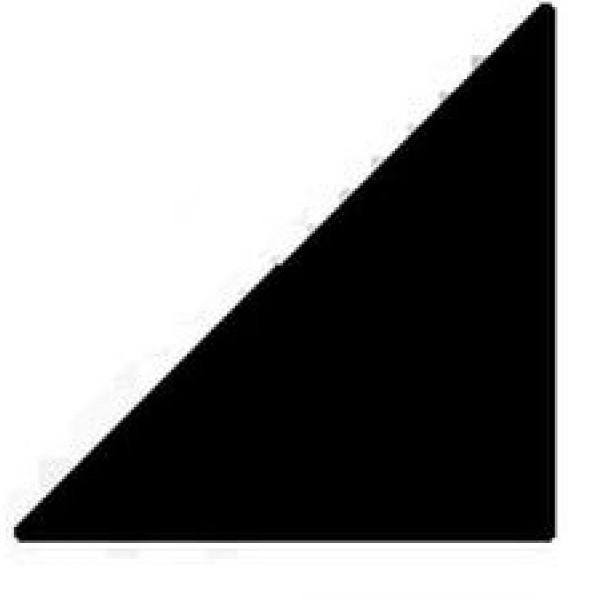 Керамическая вставка Top Cer Loose Black Half Dot Triangles 2,5x2,5 см