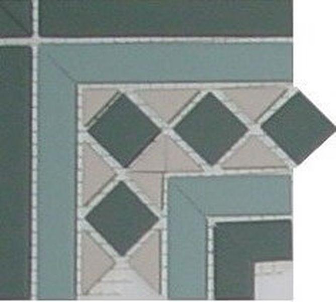 Керамическая вставка Top Cer Belfast Corner 2 Strip Stand 16,5x16,5 см