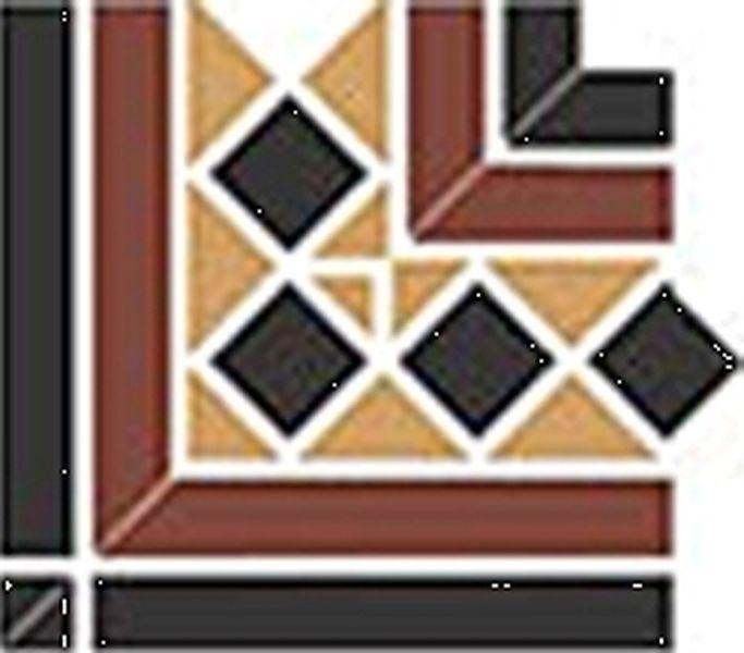 Керамическая вставка Top Cer Guilford Corner 2 Strip Stand 16,5x16,5 см