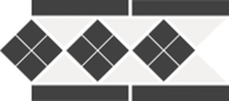 Керамический бюордюр Top Cer Octagon Border Lisbon-1 with 1 Strip Stand 15x28 см