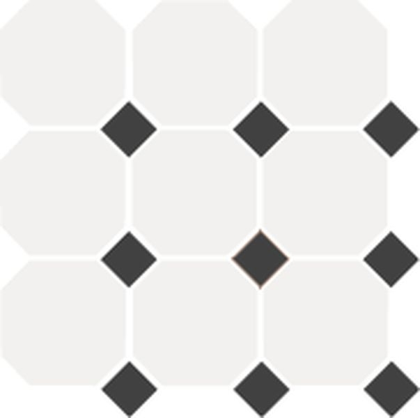 Керамогранит Top Cer Octagon White/Black Dots 30x30 см