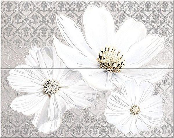 Панно Azori Sfumato Grey Floret 40,2х50,5см стоимость