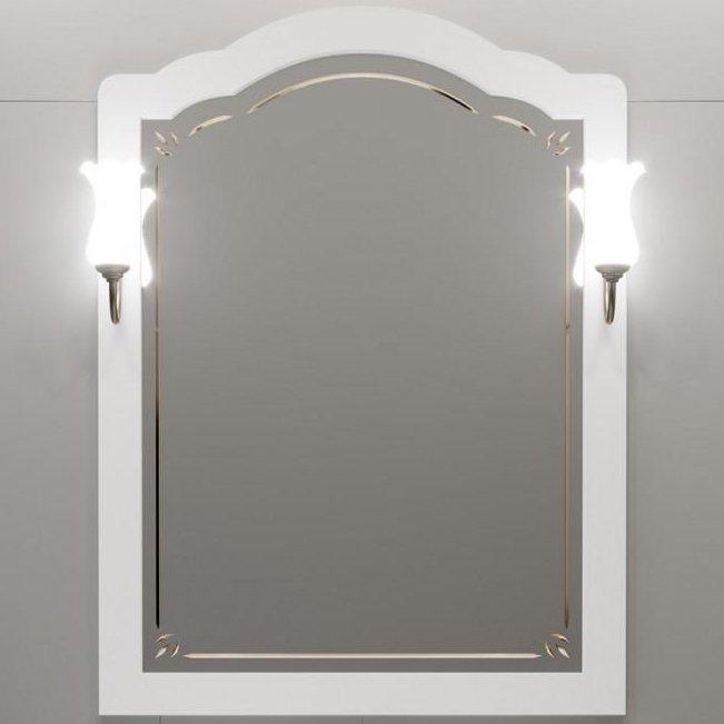 Зеркало Opadiris Лоренцо 80 Z0000008464 Белое матовое зеркало opadiris лоренцо 80 светлый орех