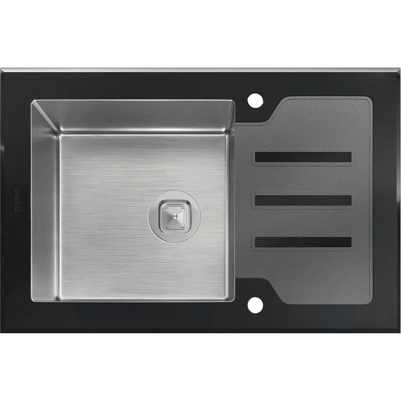 цена на Кухонная мойка Tolero Ceramic Glas TG-660 66 Черная