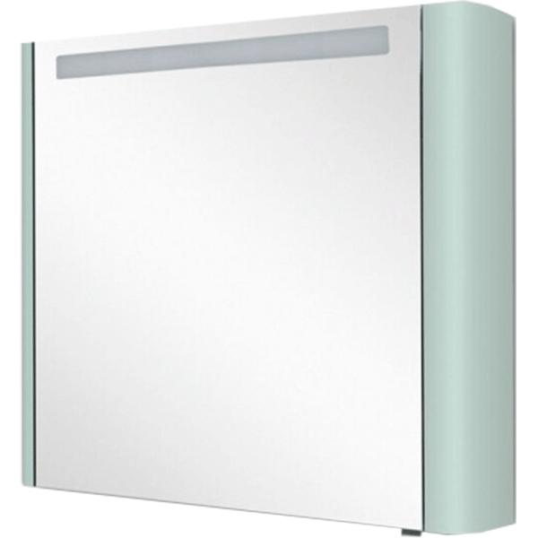 Зеркальный шкаф AM.PM Sensation 100 M30MCL0801GG с подсветкой Мятный зеркальный шкаф am pm sensation 80 петли слева белый глянцевый