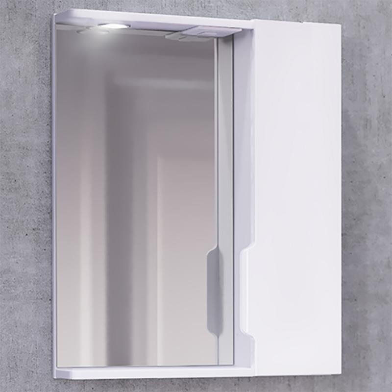 Зеркало со шкафом Jorno Moduo Slim 50 Mod.03.50/W с подсветкой Белый глянец