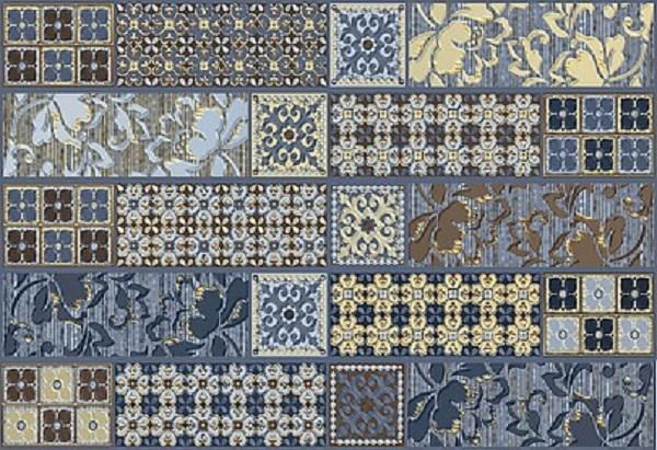 Фото - Керамический декор Azori Камлот Индиго Эйша 27,8х40,5см керамическая плитка azori камлот мокка эйша 5х40 5 бордюр