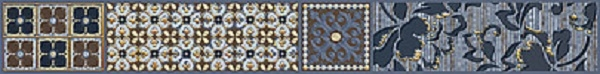 Фото - Бордюр Azori Камлот Индиго Эйша 5х40,5см керамическая плитка azori камлот мокка эйша 5х40 5 бордюр