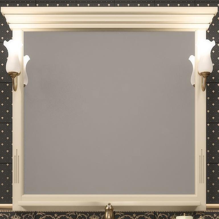 Фото - Зеркало Opadiris Риспекто 105 Z0000006704 Слоновая кость мебель для ванной opadiris риспекто 105 беленый бук