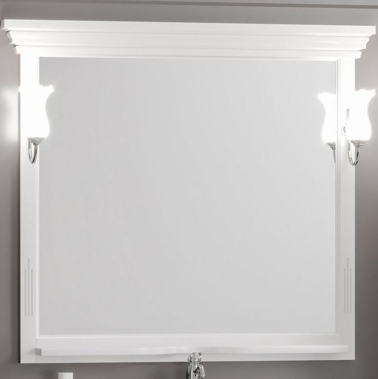 Фото - Зеркало Opadiris Риспекто 105 Z0000012655 Белое матовое мебель для ванной opadiris риспекто 105 беленый бук