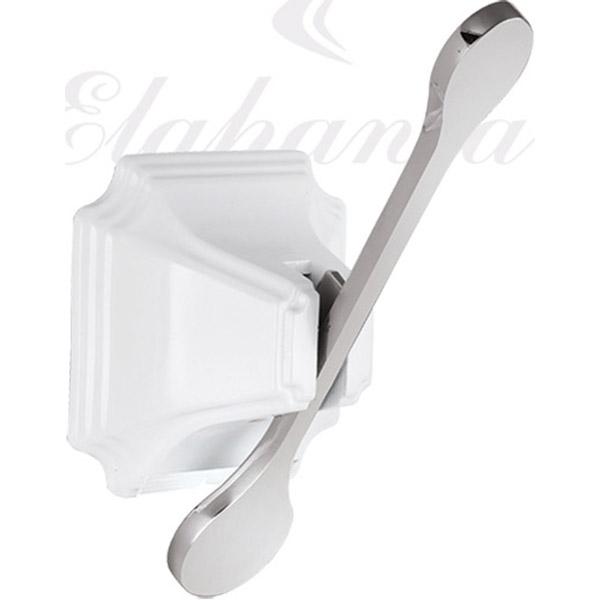 Крючок Elghansa Hermitage HRM-700-White/Chrome Белый Хром крючок elghansa hermitage белый хром hrm 900 white chrome