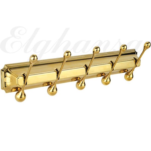 Вешалка для полотенец Elghansa Hermitage HRM-950-Gold Золото вешалка для полотенец axentia настенная с 5 планками 58 х 15 5 х 70 см
