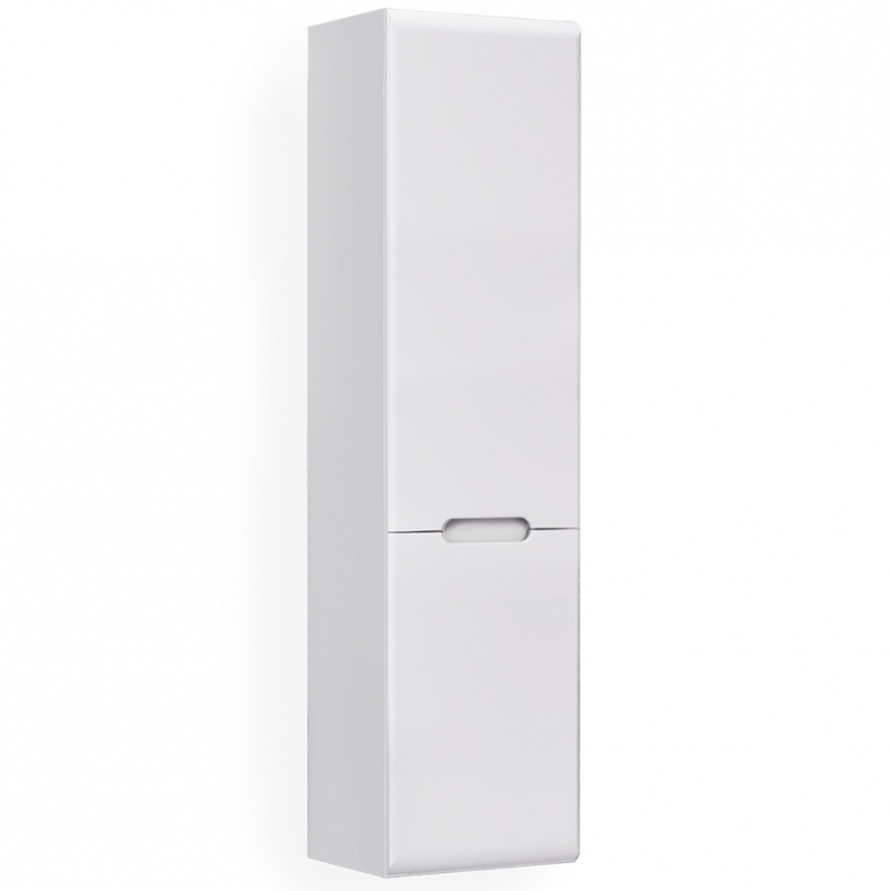 Шкаф пенал Jorno Moduo Slim 33 R Mod.04.115/P/W подвесной Белый глянец